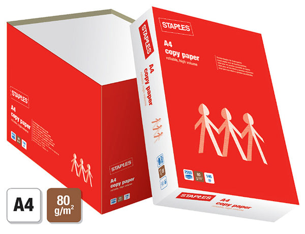 STAPLES COPY A4 80G QUICKPACK (2500)