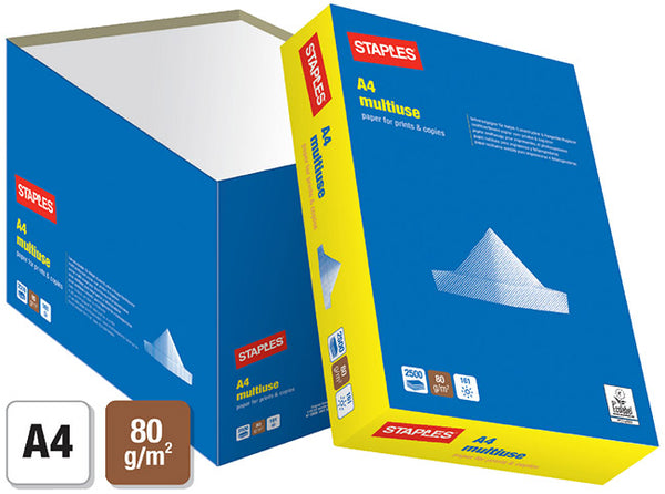 STAPLES MULTIUSE A4 80G QUICKPACK (2500)