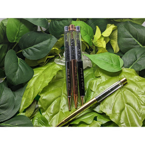 Tiger's Eye, Amethyst , Rose Quartz Clear Rock Quartz , Red Jasper, Green Aventurine, Citrine ,Black Obsidian Affirmation Empower Gem Crystal ballpoint pen, Affirmation Wands Metaphysical ,chakra healing, crystal healing , positve energy pens