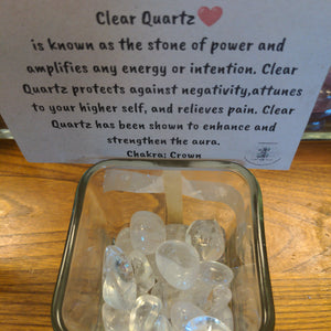 Clear Quartz Tumbled