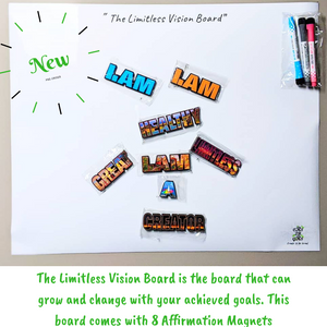 Manifestation Tools-The Limitless Vision Board Kit- with Affirmation Magnets|The Affirmation Collection