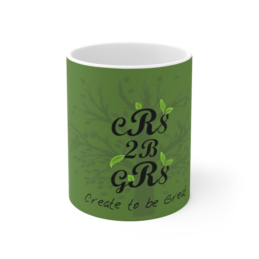 Create to be Great Mug green