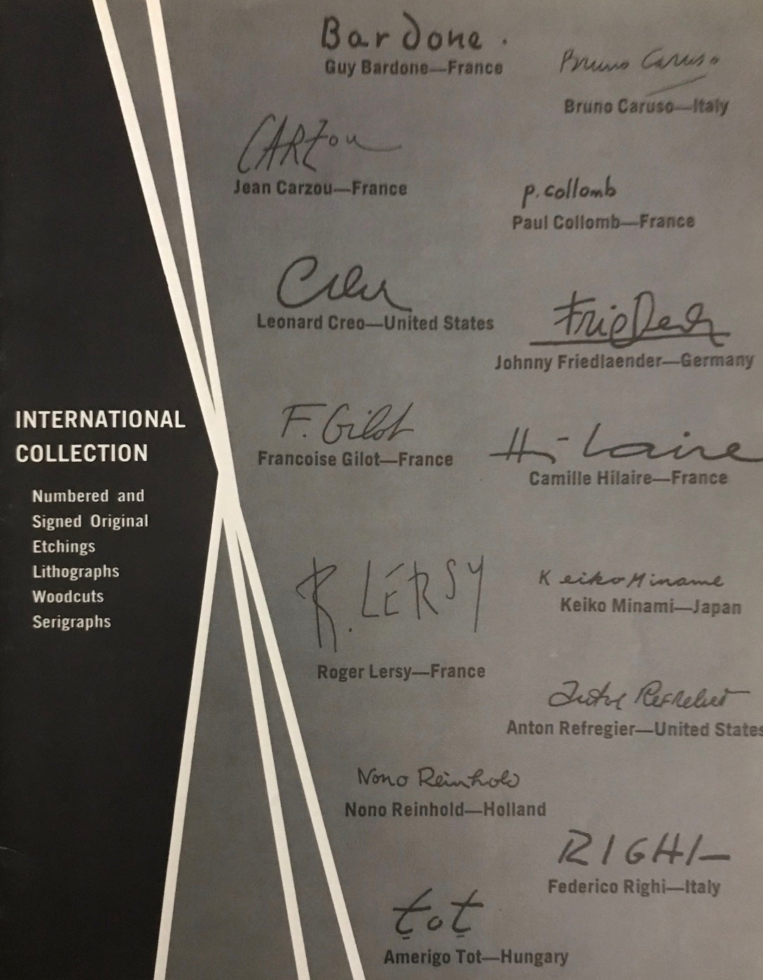 Associated American Artists International Collection Booklet