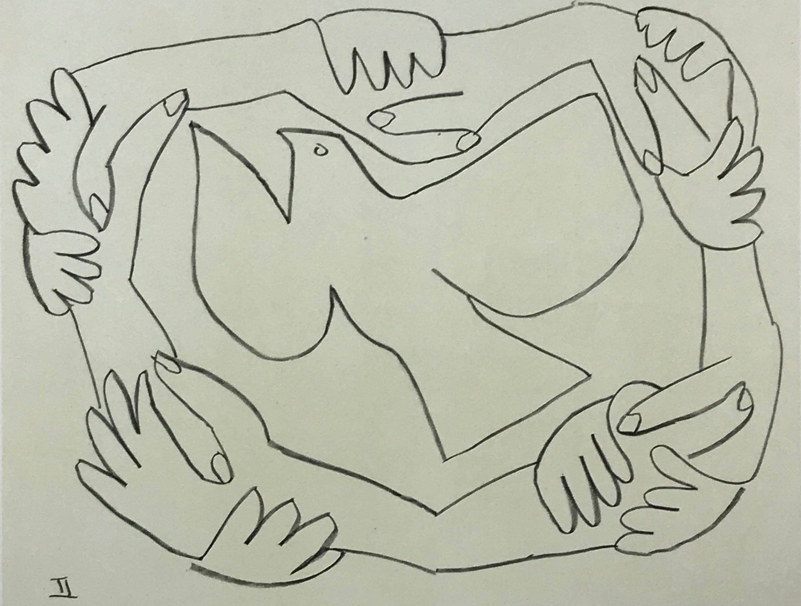 Valiant Dove/Hands Tied by Pablo Picasso