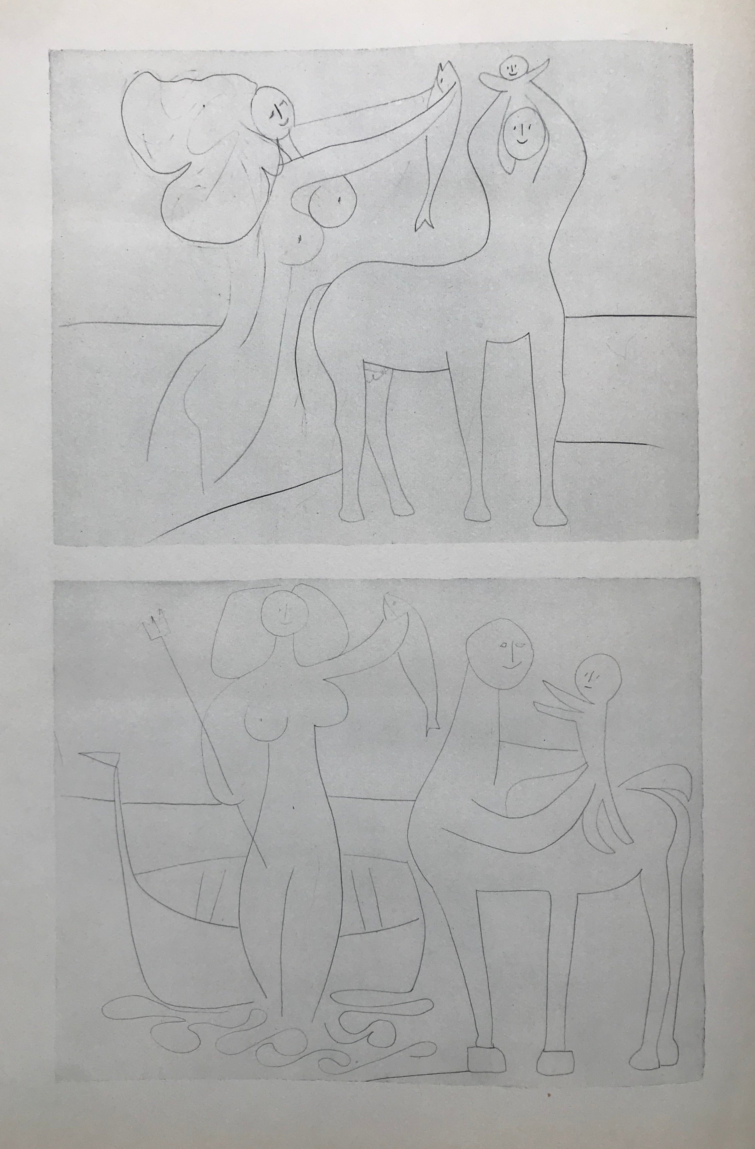 Mythic and Idyllic Family Images by Pablo Picasso