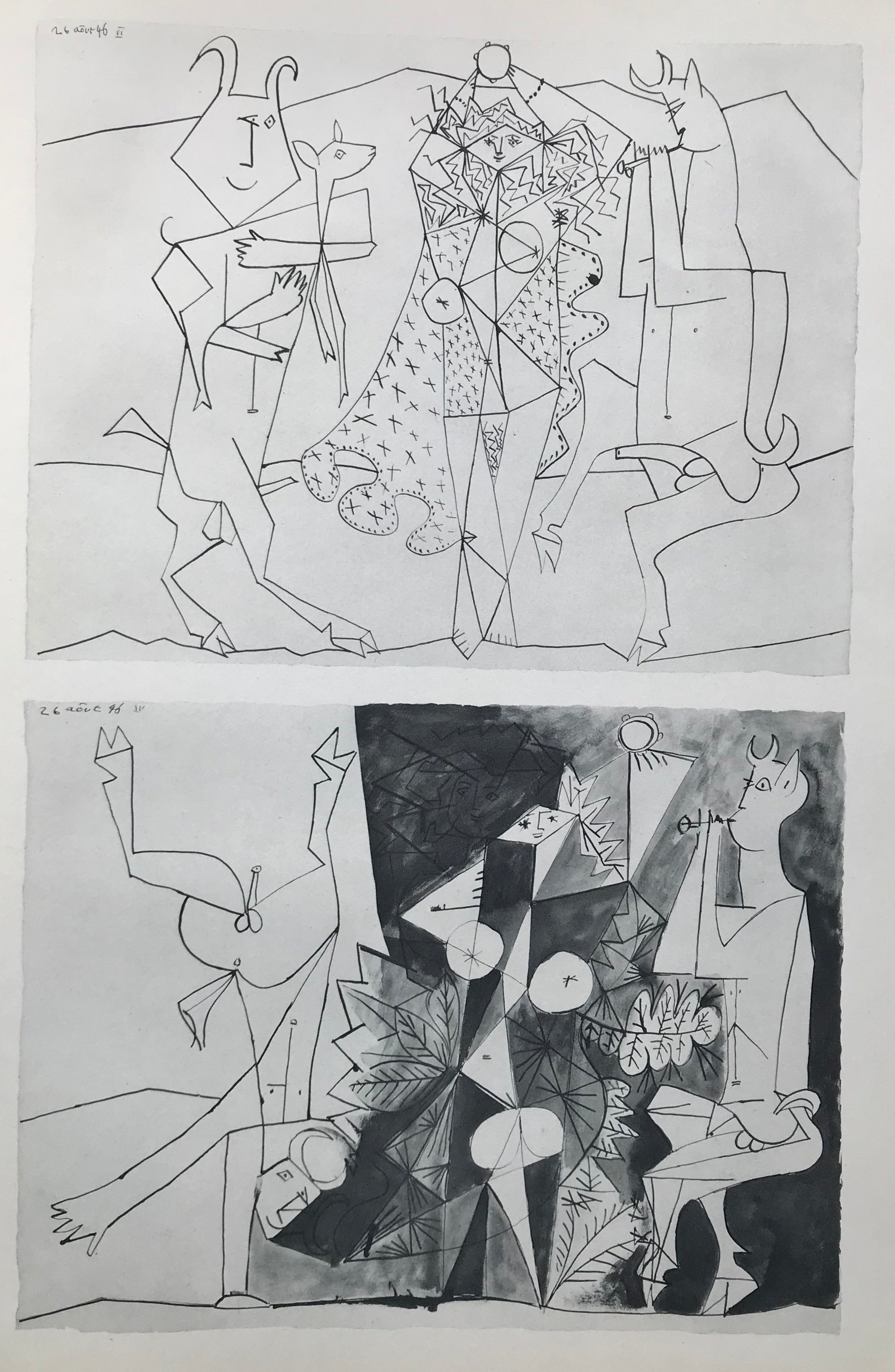 Mythical Figures by Pablo Picasso