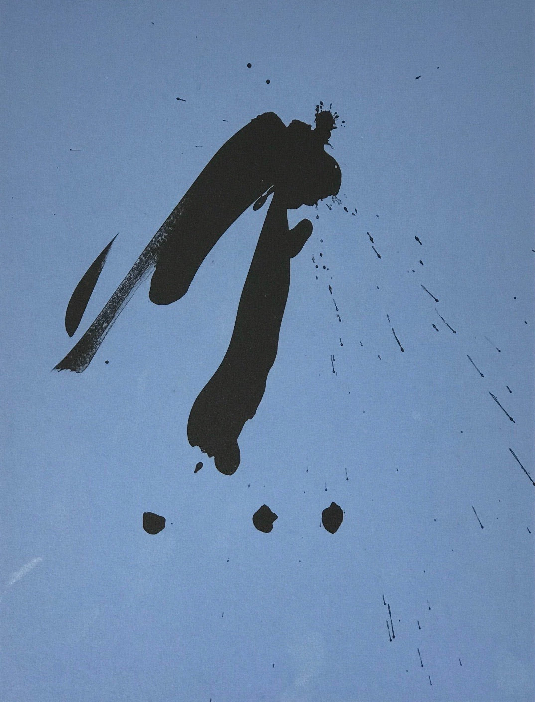 Three Poems - Blue Gesture by Robert Motherwell