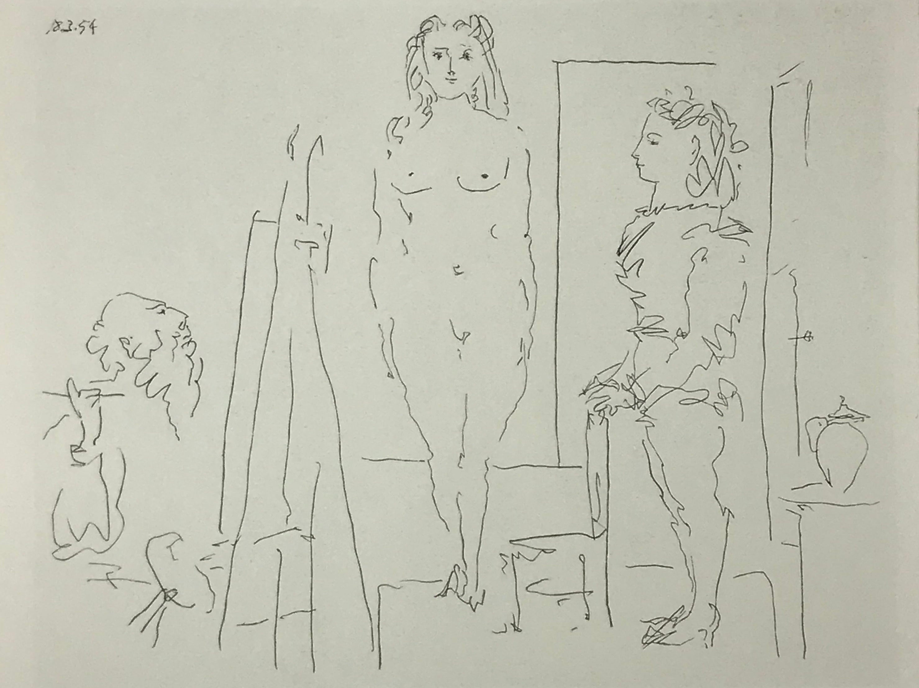 Two Models/Repetition by Pablo PIcasso