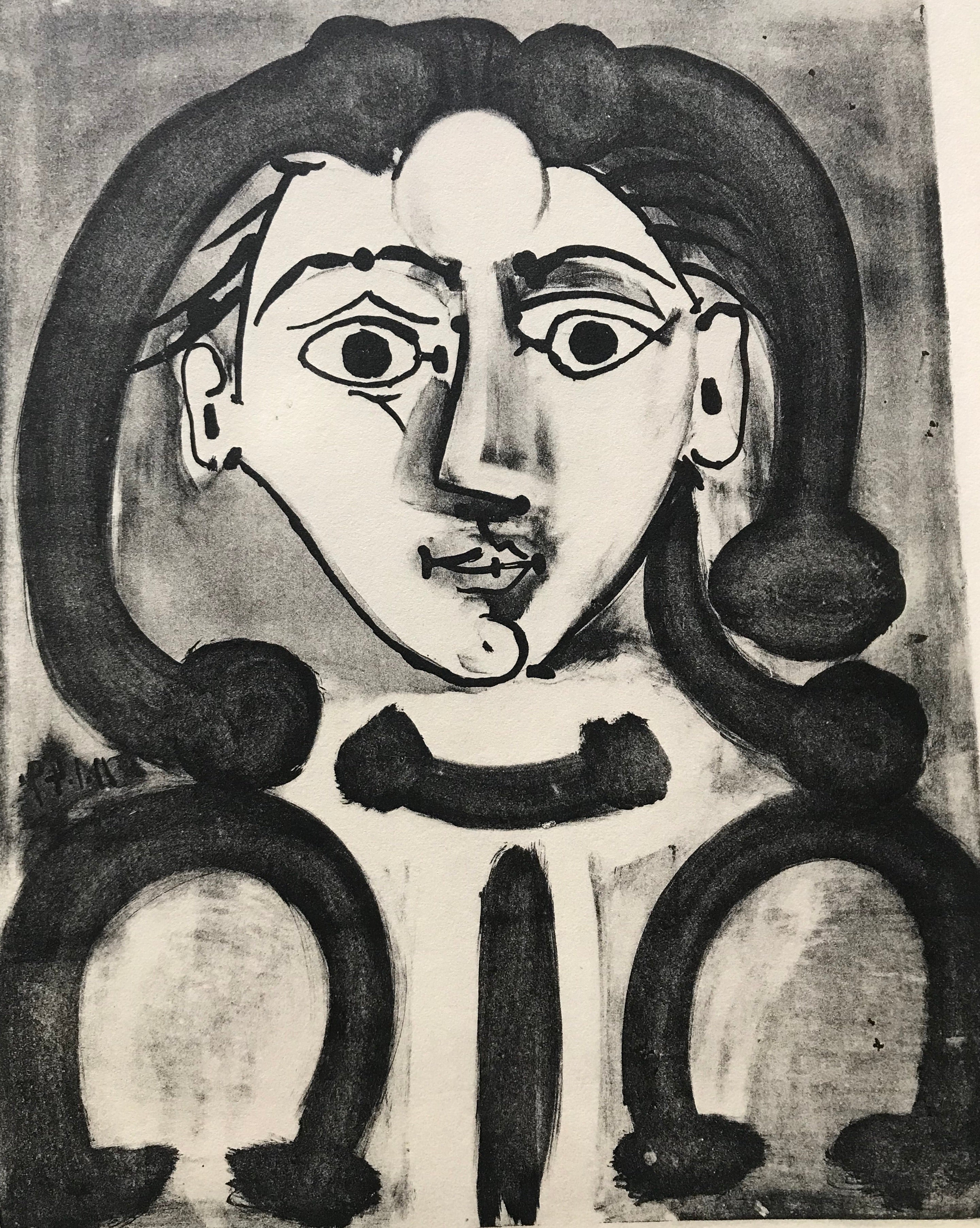 Head of a Young Woman by Pablo Picasso