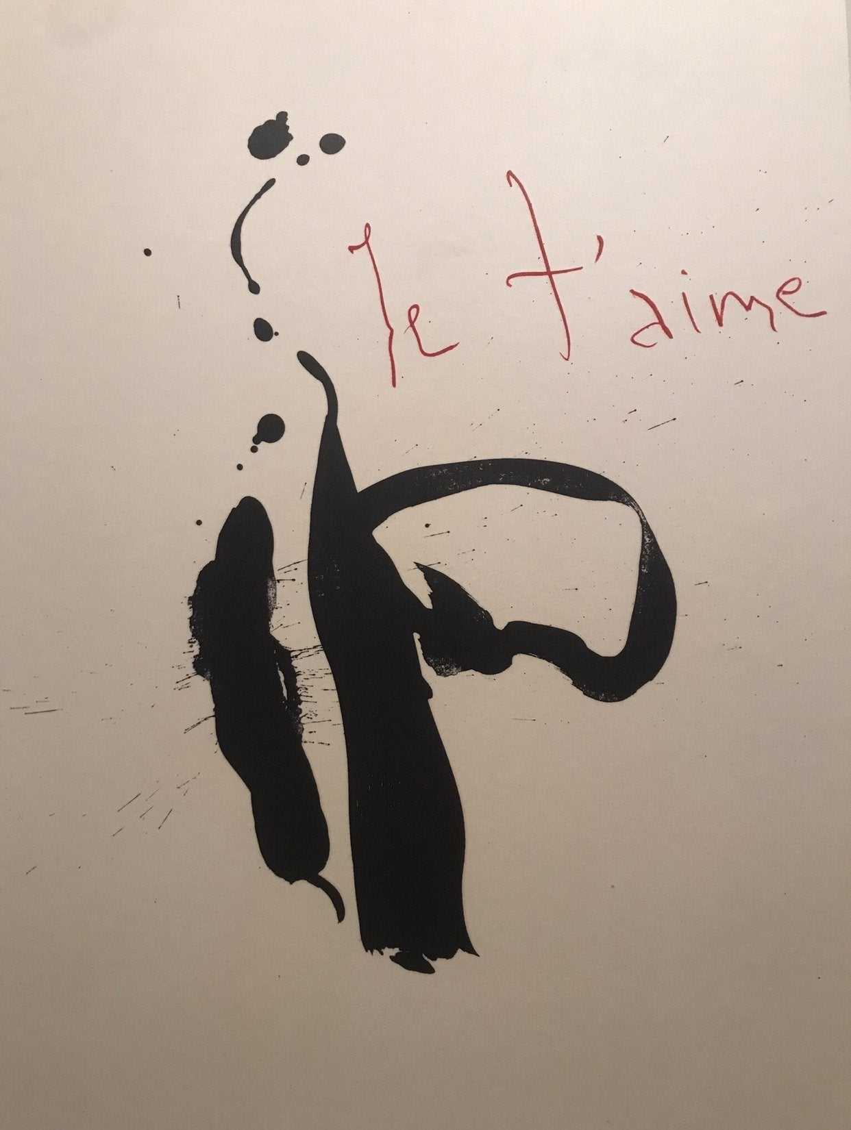 Three Poems - Red Samurai/Je t'aime by Robert Motherwell