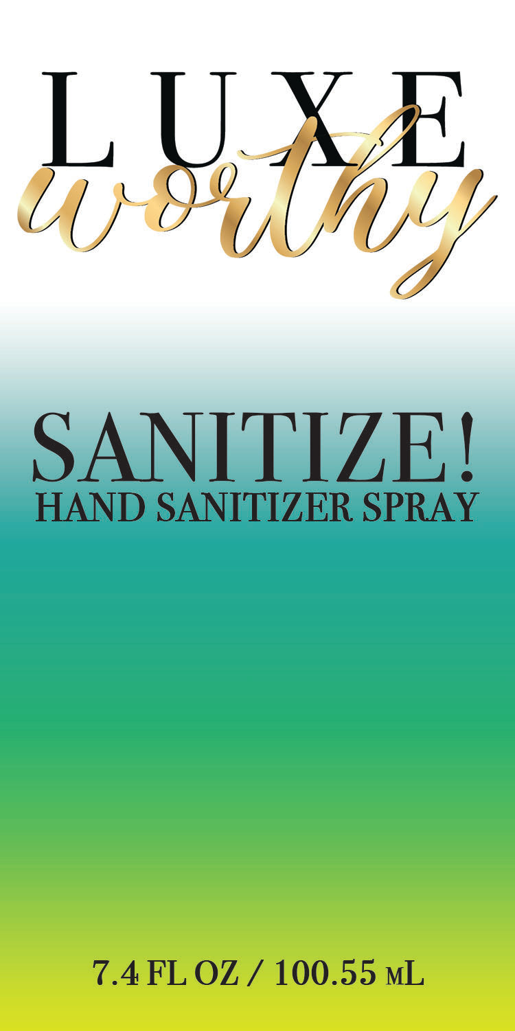 Sanitize! Hand Sanitizer Spray