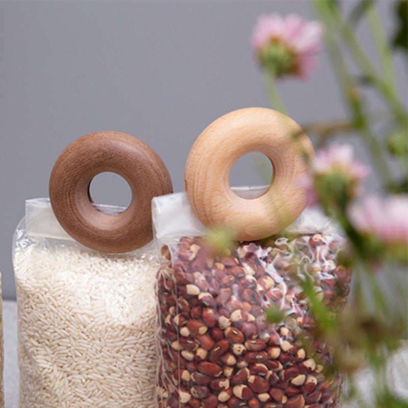 Wooden Donut Snack Sealing Clips