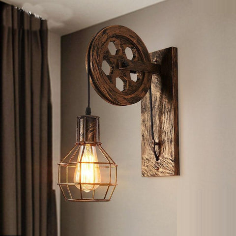 Vintage Wall Premium Lifting Pulley Lamp