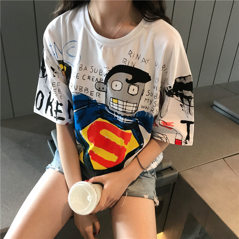 Vintage Punk Style Casual T-Shirt