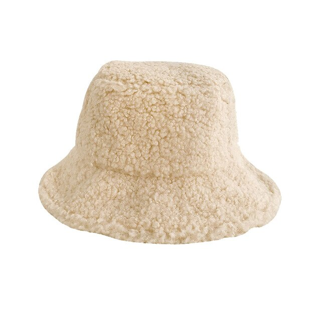 Faux Lambswool Fishing Cap