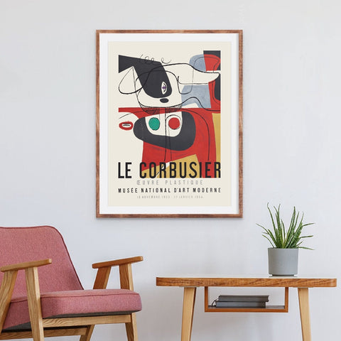 Le Corbusier 1954 'Cubism' French Art Museum Exhibition Poster