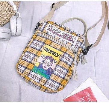 Plaid Print Crossbody Handbag
