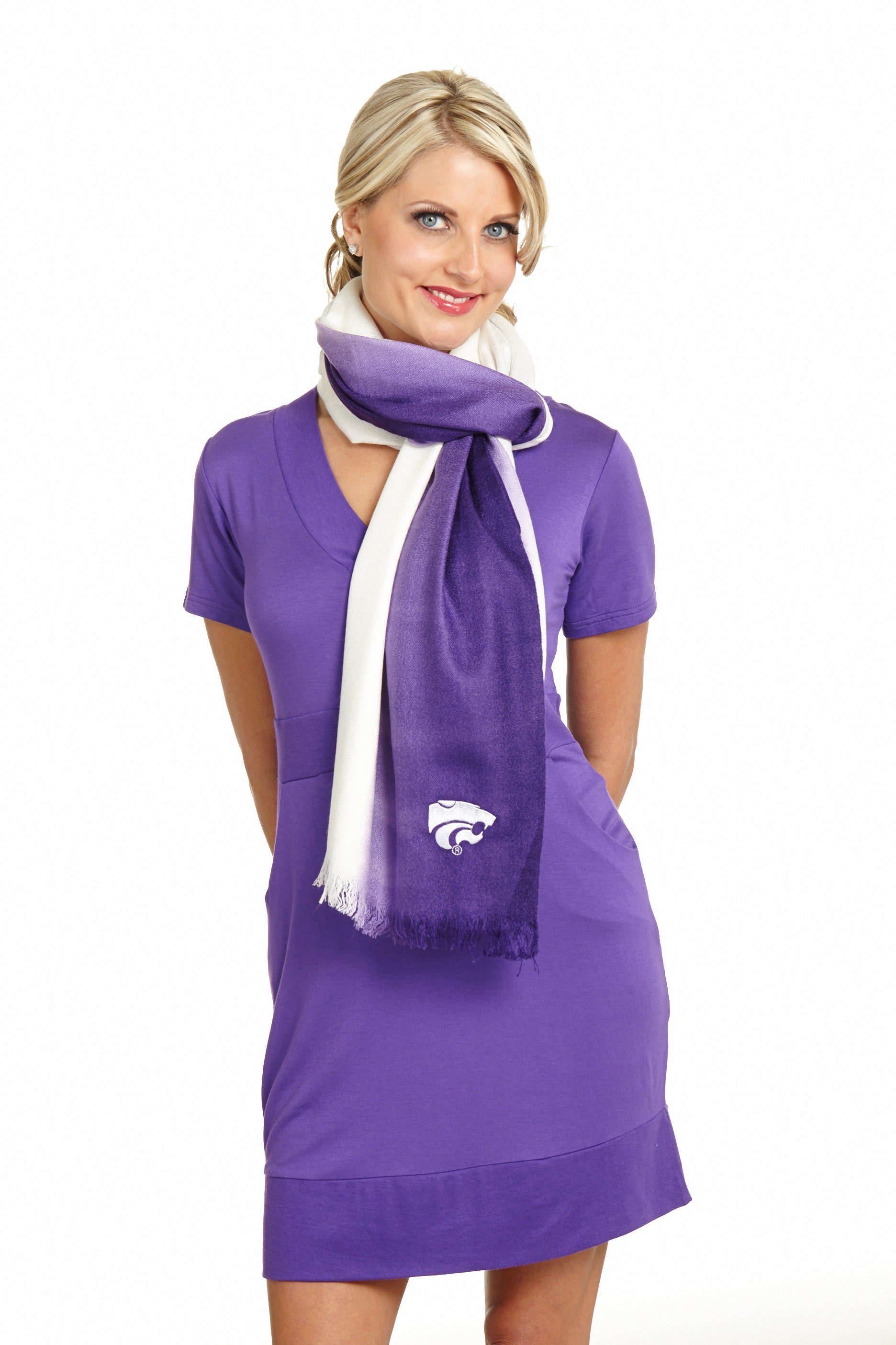 KANSAS STATE WILDCATS OMBRE SHAWL
