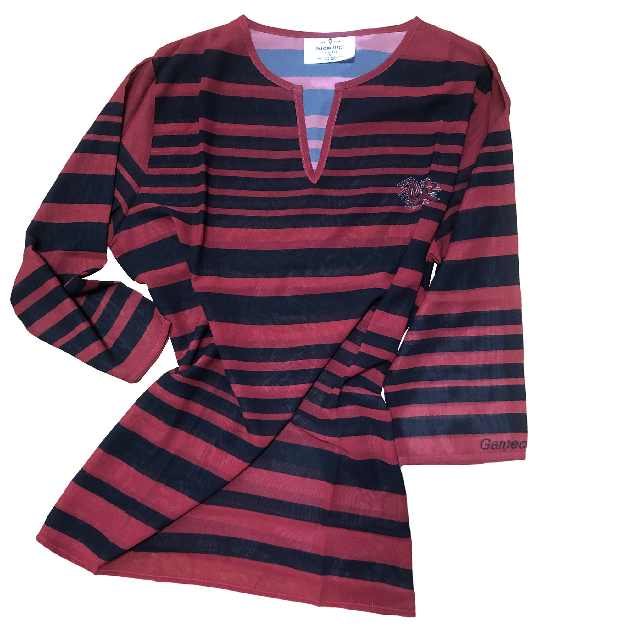 South Carolina Gamecocks Sheer Stripe Tunic