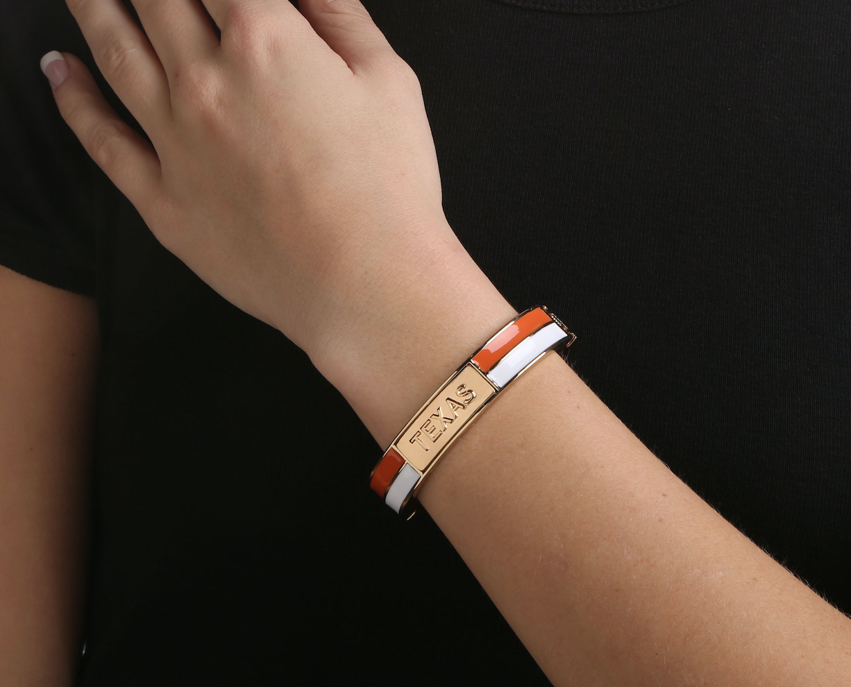 TEXAS LONGHORNS 2 TONE BANGLE