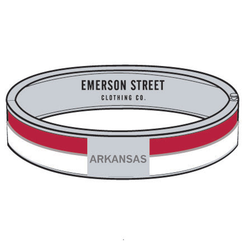 Arkansas Razorbacks 2 Tone Bangle