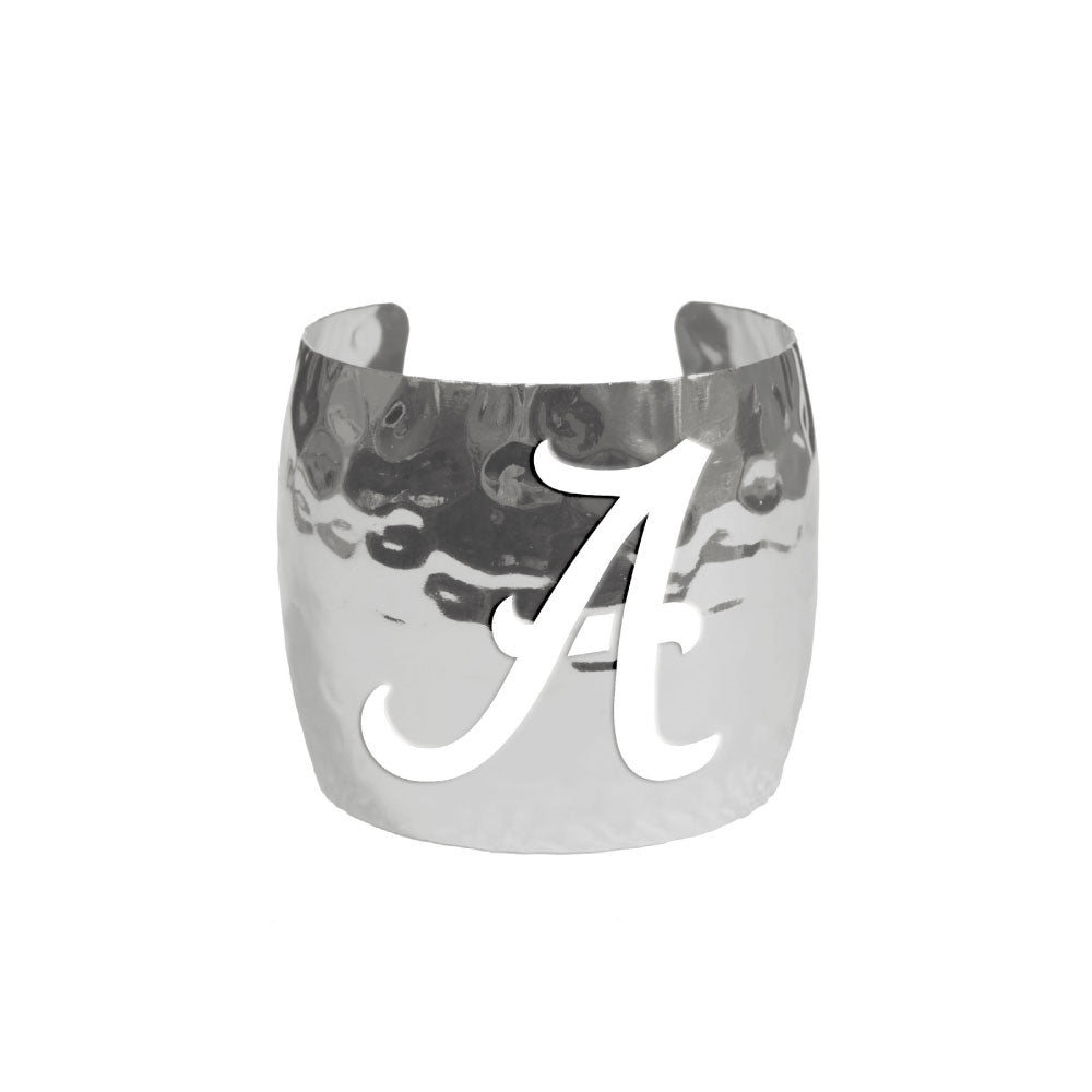 ALABAMA CRISMON TIDE HAMMERED CUFF