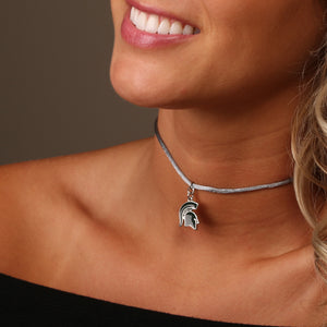 MICHIGAN STATE SPARTANS SATIN CHOKER
