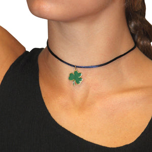 NOTRE DAME FIGHTING IRISH SATIN TRIM CHOKER - SHAMROCK