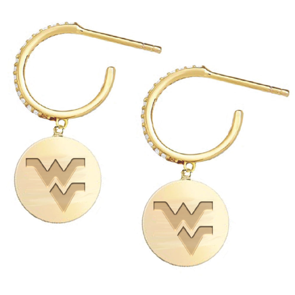 WEST VIRGINIA MOUNTAINEERS KAYLA EARRINGS