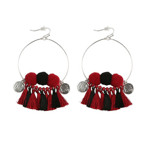 South Carolina Gamecocks Multi Tassel Earrings