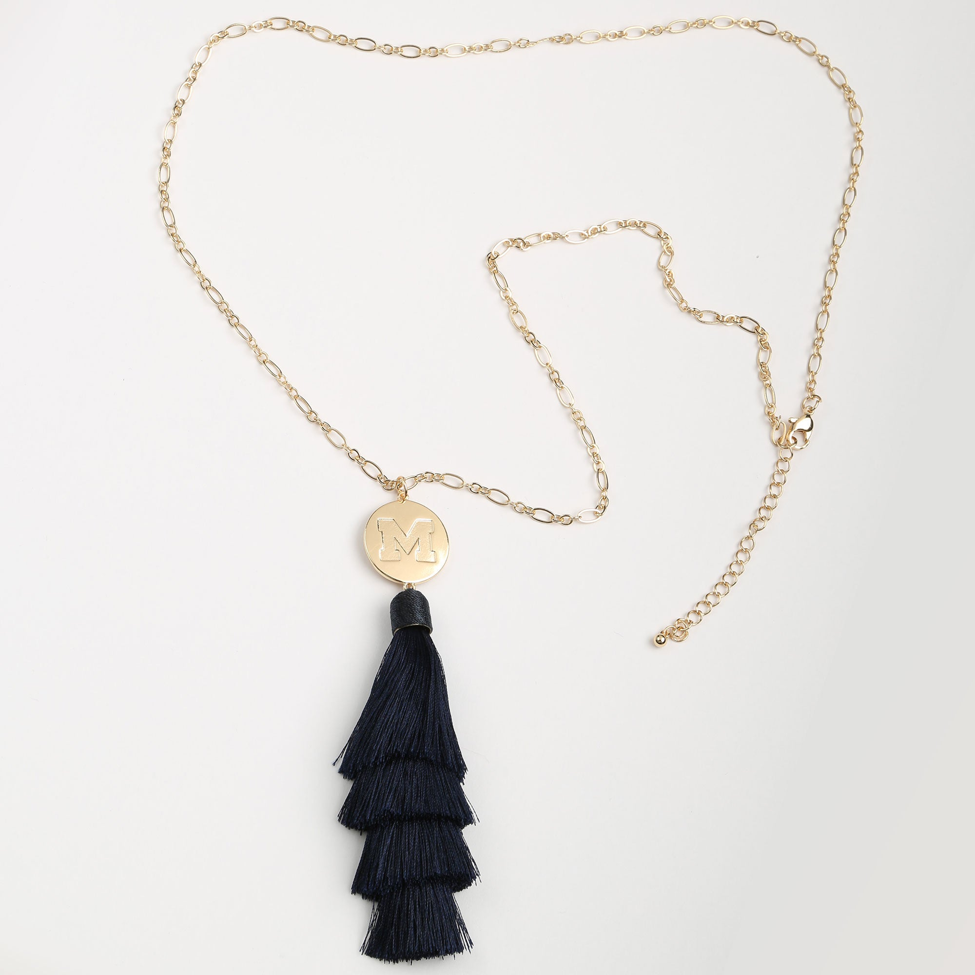 Michigan Wolverines Tara Tassel Necklace