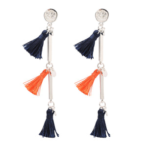 AUBURN TIGERS MELODY TASSEL EARRINGS