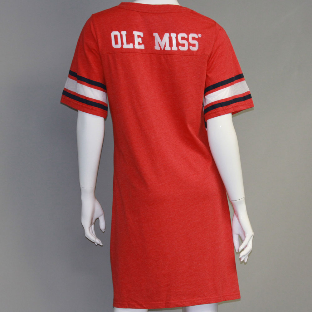 Mississippi Rebels Heathered Football Jersey Nightshirt