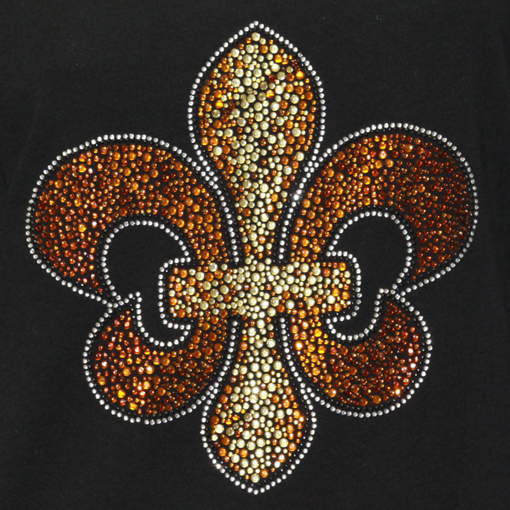 Fleur De Lis Jeweled Long Sleeve