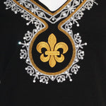 Load image into Gallery viewer, Fleur De Lis Medallion Dress