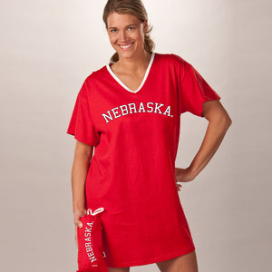 Nebraska Cornhuskers Collegiate Nightshirt In Bag