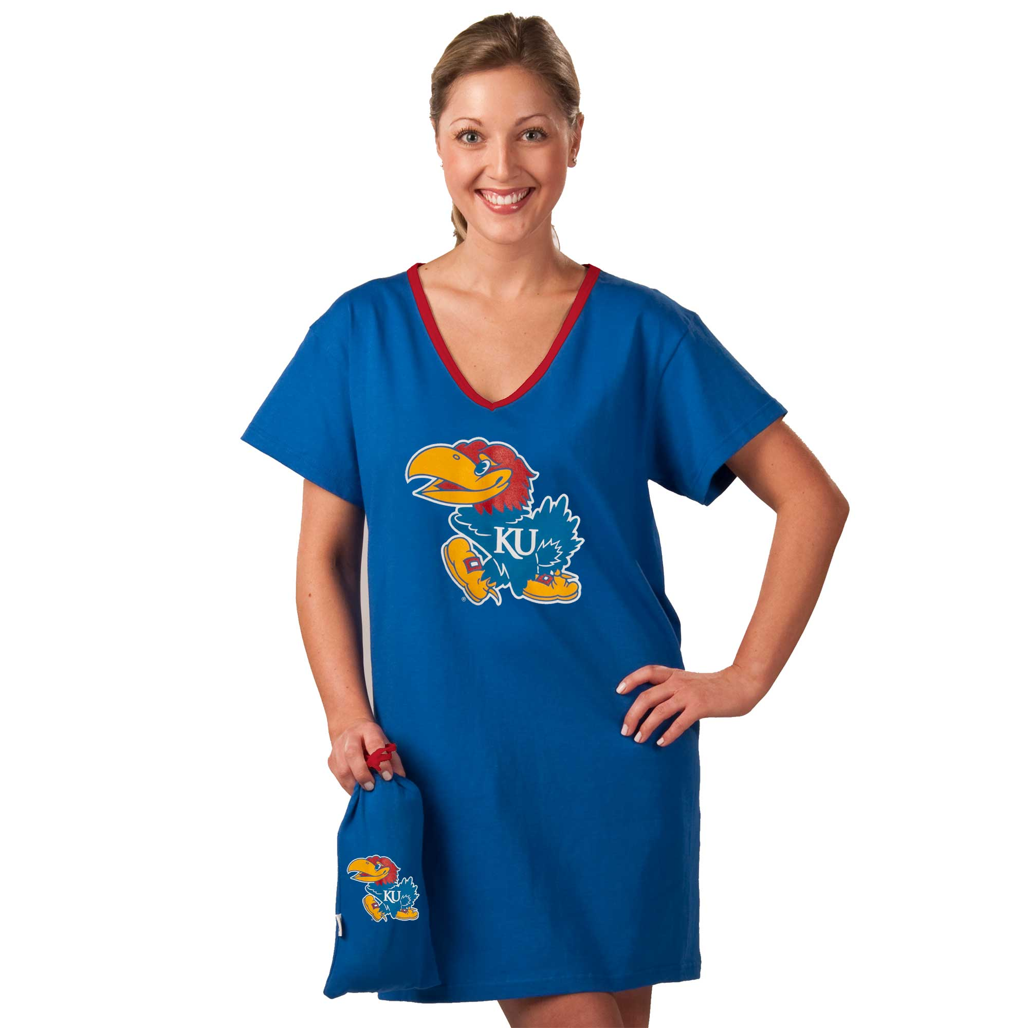 Kansas Jayhawks Collegiate Nightshirt In Bag