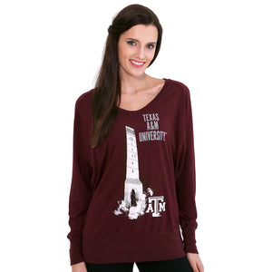 TEXAS A&M AGGIES CAMPUS RAGLAN TOP