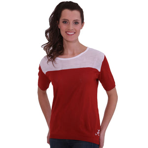 ALABAMA CRIMSON TIDE SHORT SLEEVE SWEATER