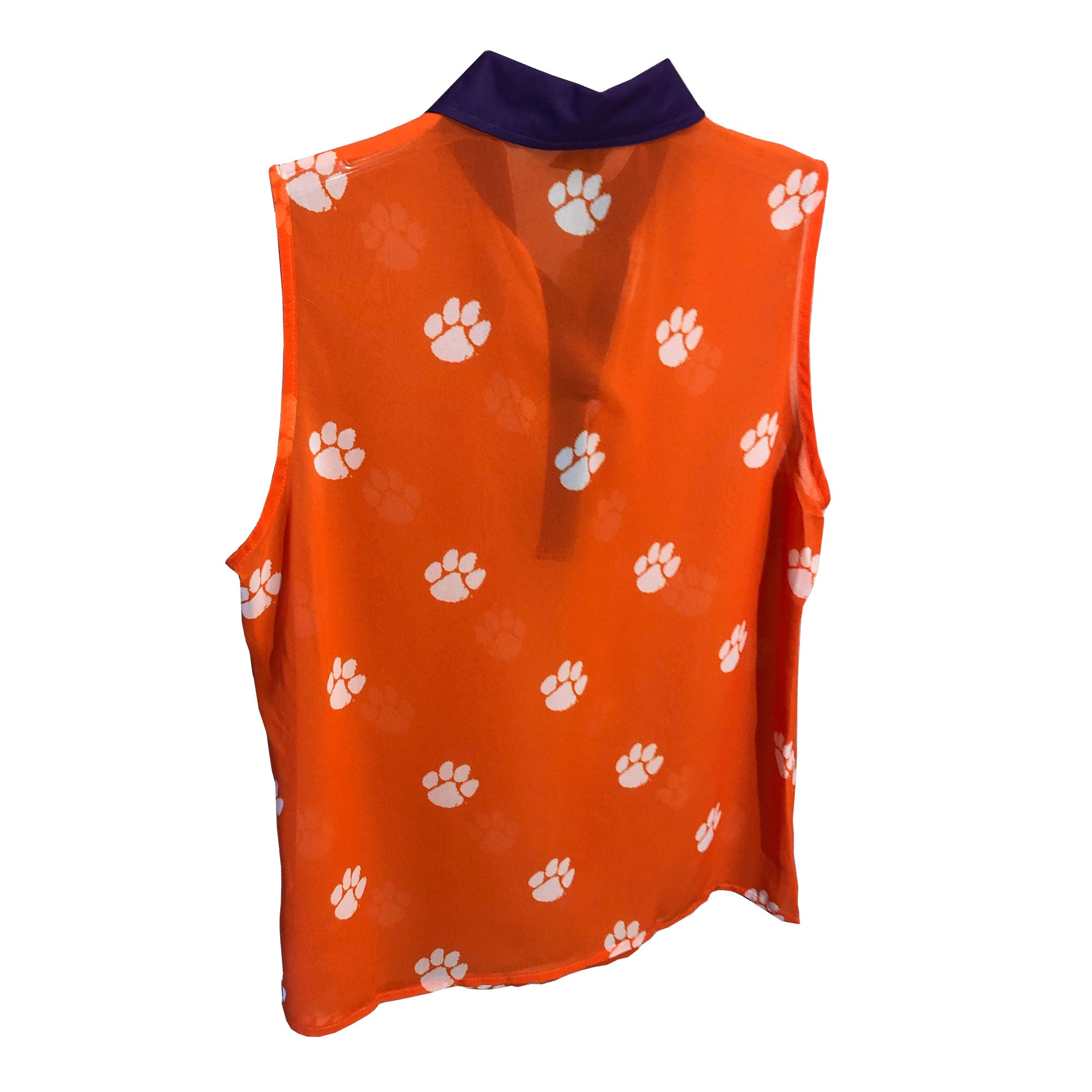 CLEMSON TIGERS SHEER SLEEVELESS POLO