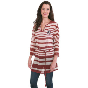 FLORIDA STATE SEMINOLES SHEER STRIPE  TUNIC