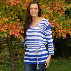 KENTUCKY WILDCATS SHEER STRIPE TUNIC