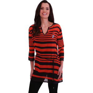 OKLAHOMA STATE COWBOYS SHEER STRIPE TUNIC