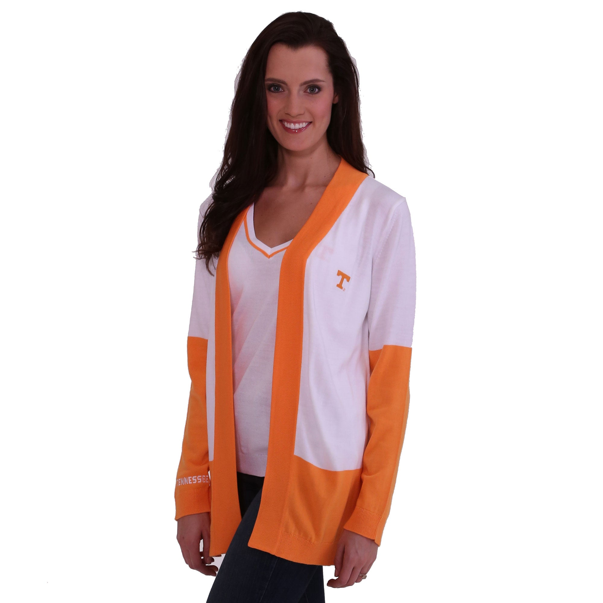 TENNESSEE VOLUNTEERS COLOR BLOCK CARDIGAN