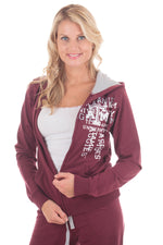 Load image into Gallery viewer, Texas A&M Aggies Flocked Zip Hoody