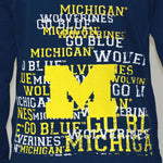 Load image into Gallery viewer, Michigan Wolverines Flocked Zip Hoody