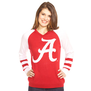 Alabama Crimson Tide V-Neck Logo Sweater