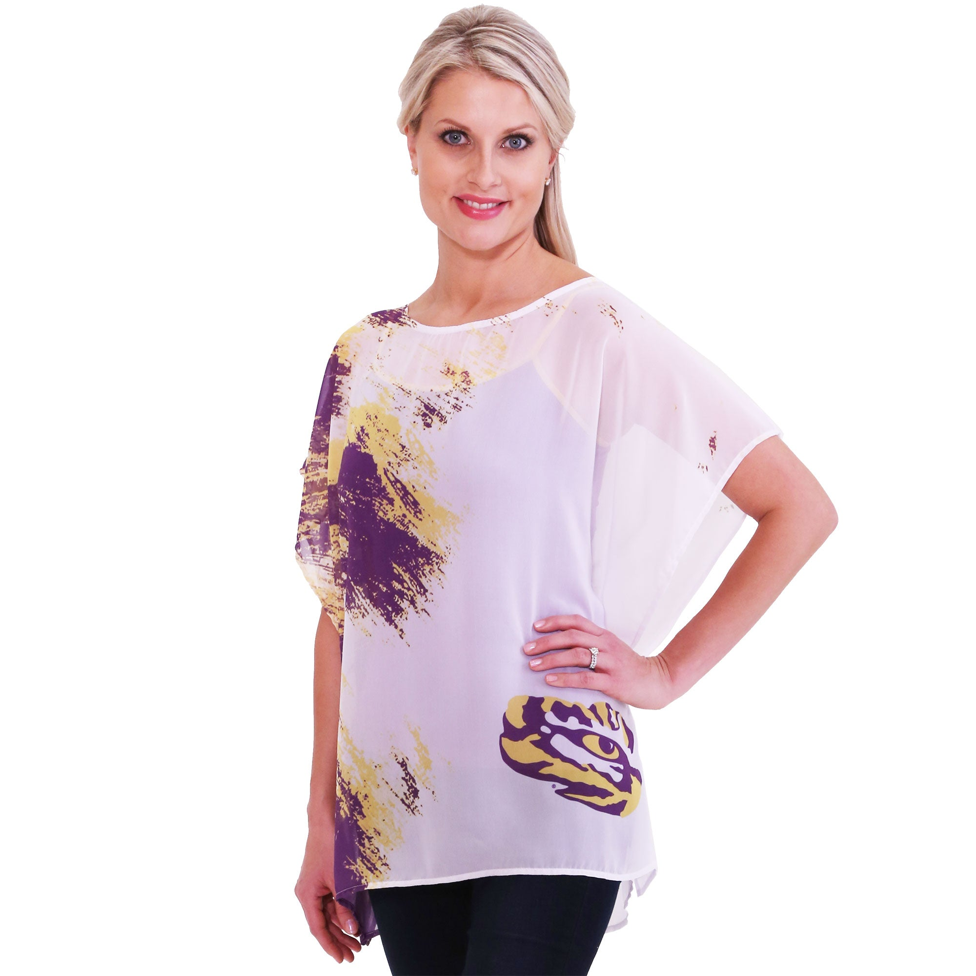 LSU Tigers Sheer Tunic