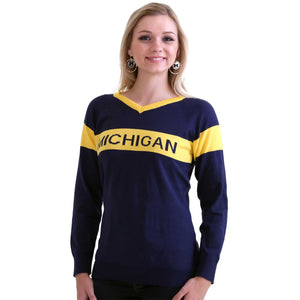 MICHIGAN WOLVERINES RETRO TEAM SWEATER