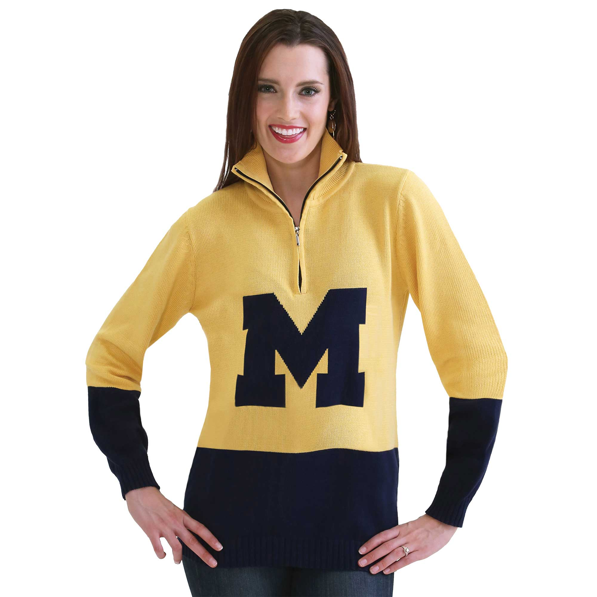 MICHIGAN WOLVERINES LOGO SWEATER - size small only